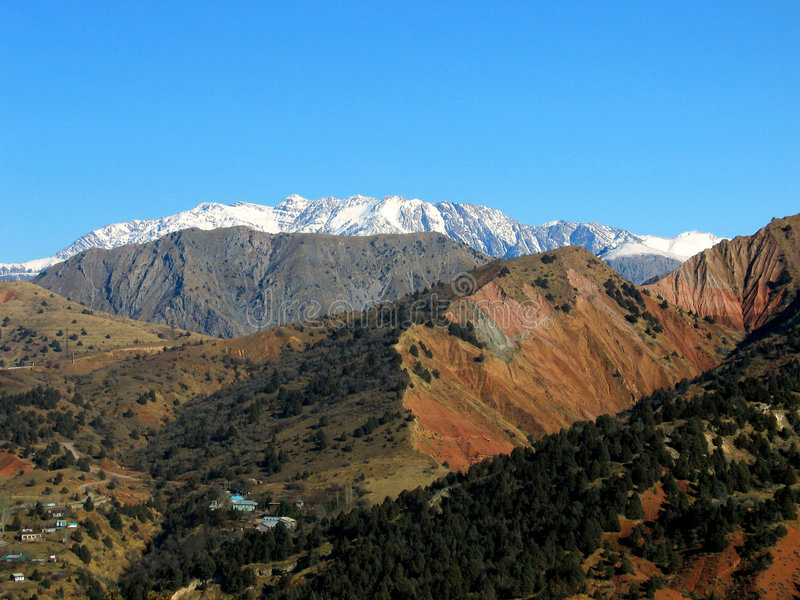 снежок alps далекий стоковые фотографии rf