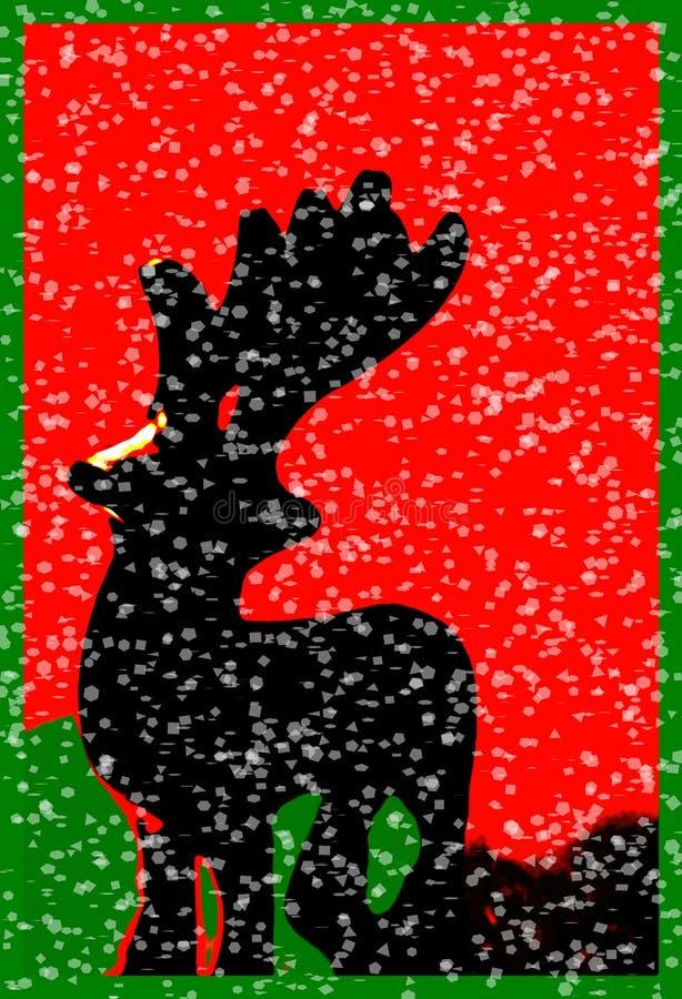снежок Santas северного оленя рождества искусства Стоковая Фотография RF