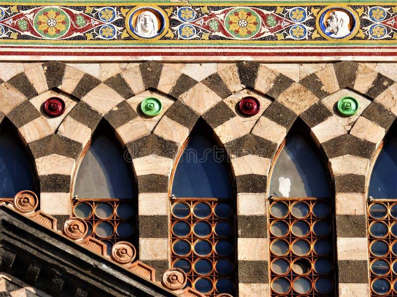 Снимки собора побережья Амальфи IX стоковая фотография rf