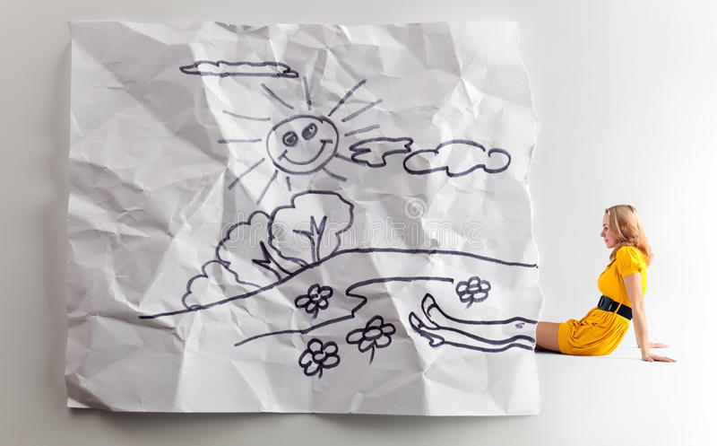 Сновидения детей. стоковое фото rf