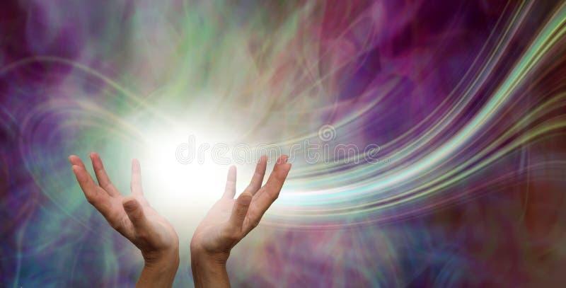 Сногсшибательное заживление явление потока энергии стоковое изображение rf