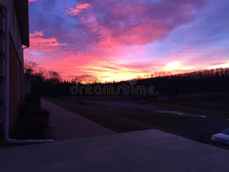 сногсшибательный восход солнца стоковая фотография rf