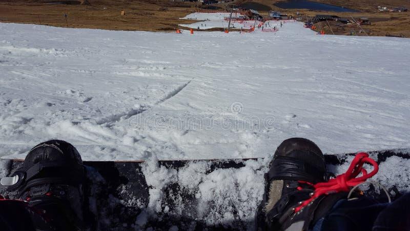 Сноубординг на afriski в Лесото стоковые изображения rf