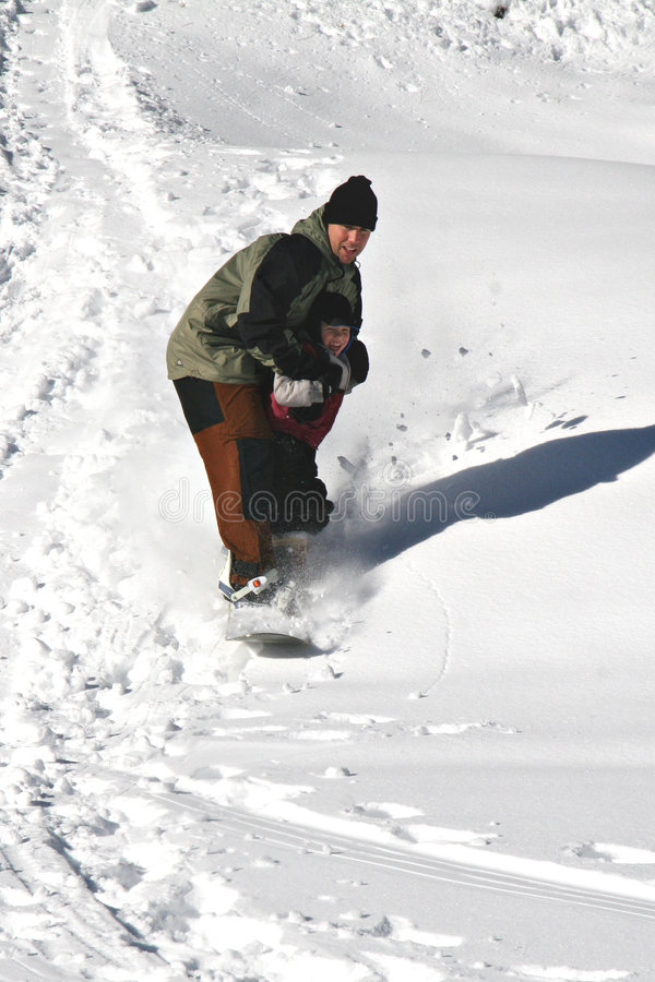 сноубординг урока стоковые изображения