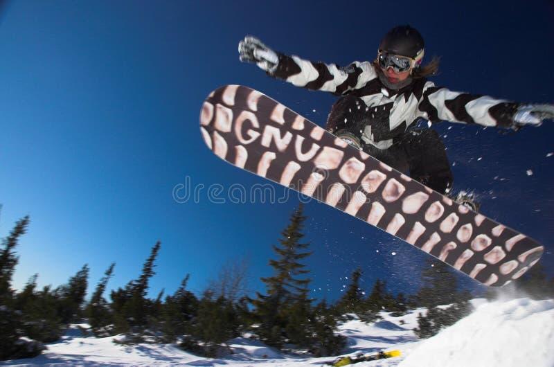 сноубординг стоковое изображение rf