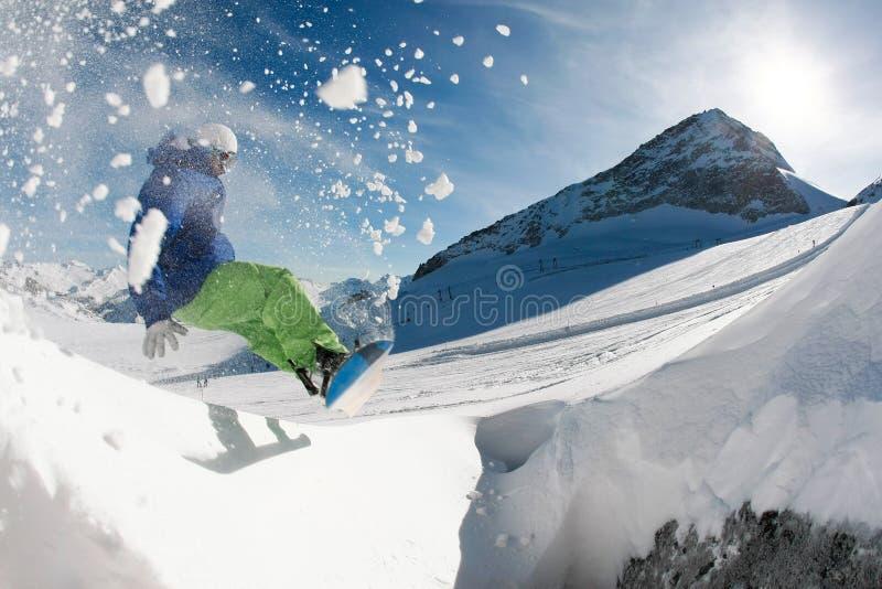 сноубординг стоковые фотографии rf