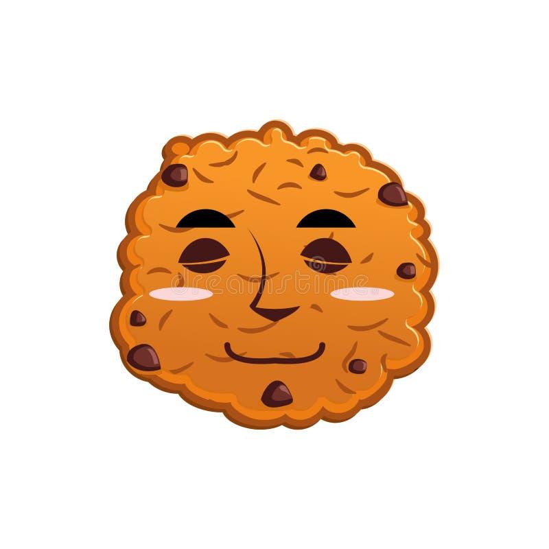 Сны Emoji печений сон эмоции печенья изолированная еда иллюстрация штока