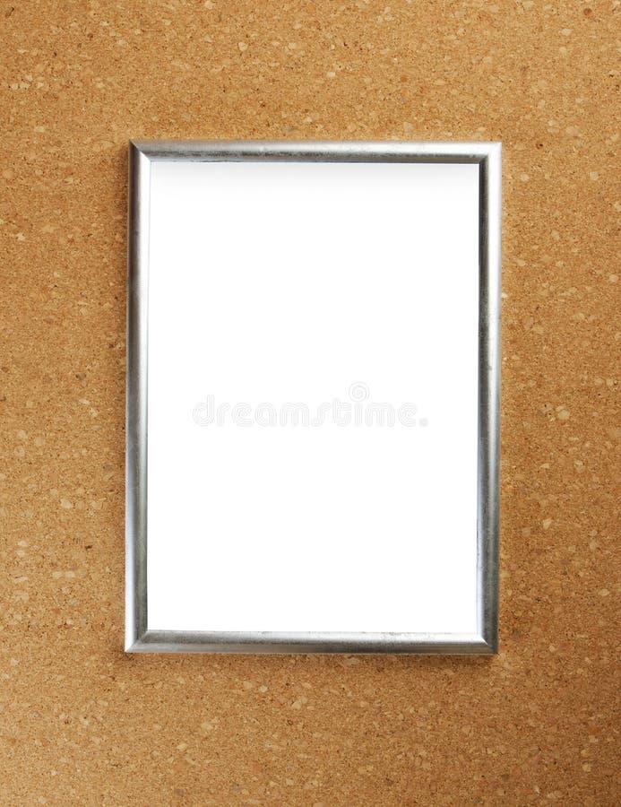 Снятый пустой рамки диплома на предпосылке пробочки стоковая фотография rf