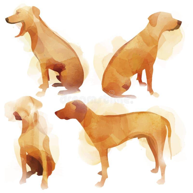 Собака акварели иллюстрация штока