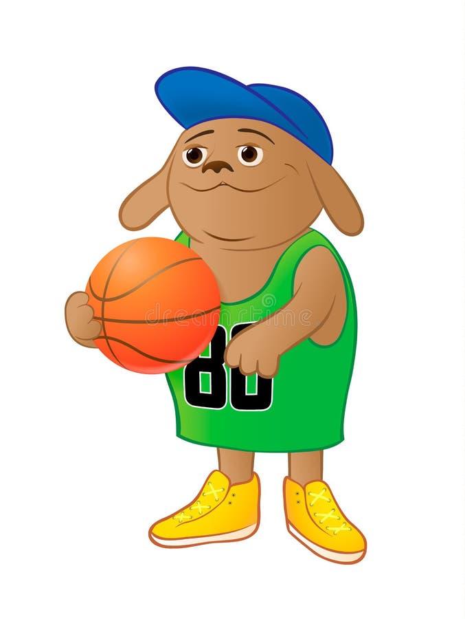 Собака баскетбола стоковое фото rf