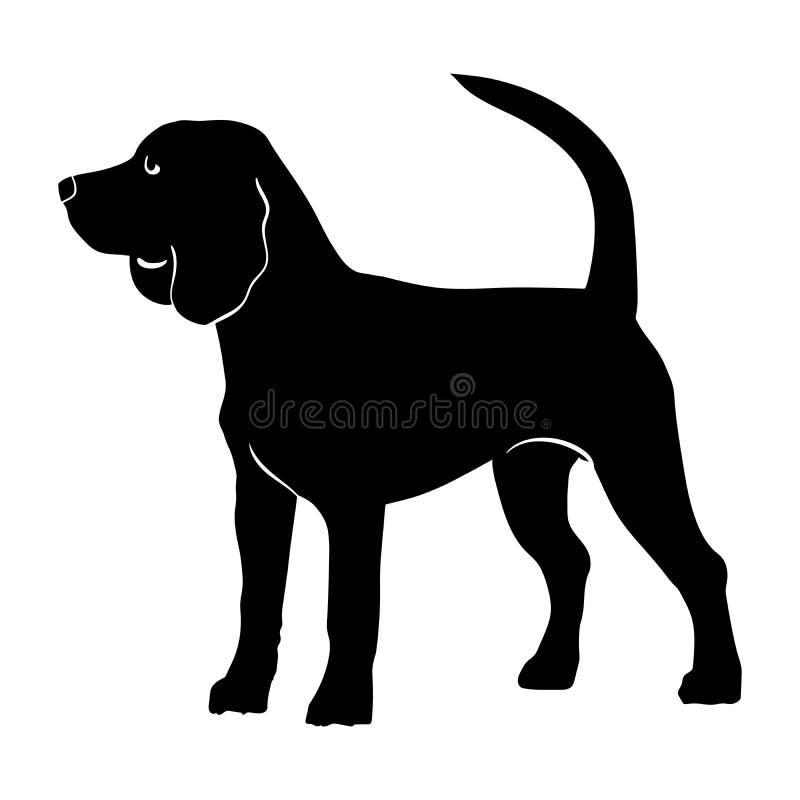 Собака бигля чистоплеменная бесплатная иллюстрация