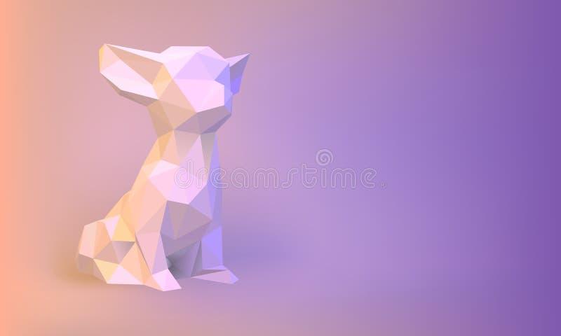 Собака вектора Низко-поли иллюстрация штока