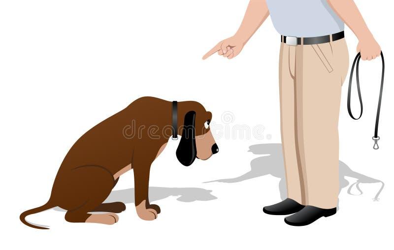 собака виновная иллюстрация штока