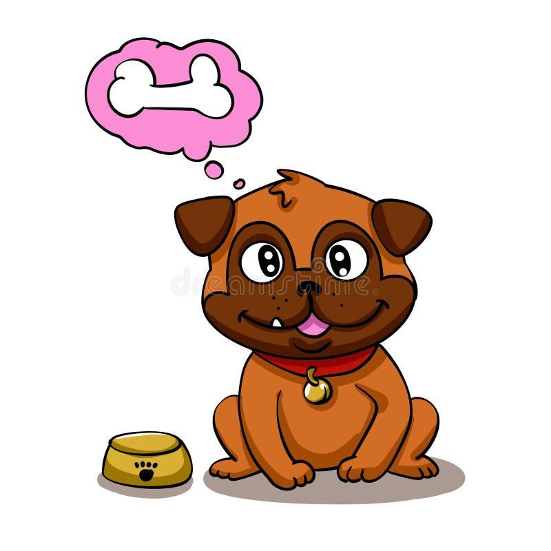 собака голодная бесплатная иллюстрация