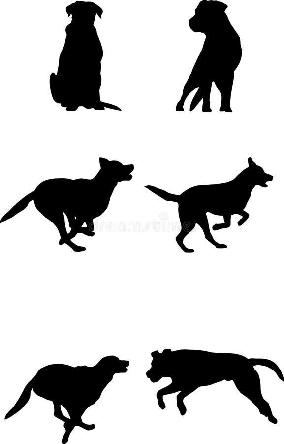 собака действия иллюстрация штока