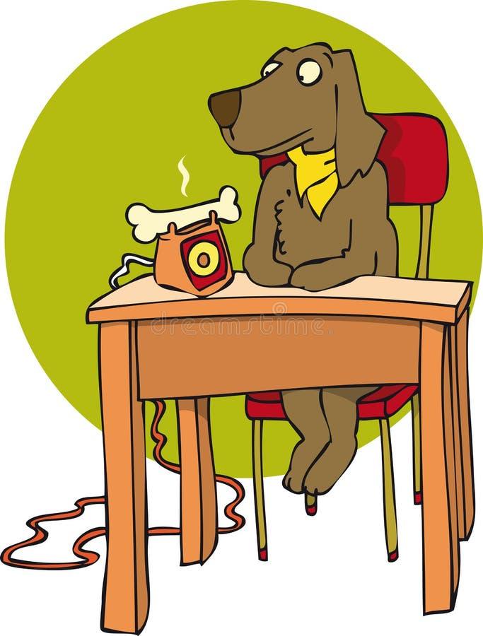 Собака и косточка бесплатная иллюстрация