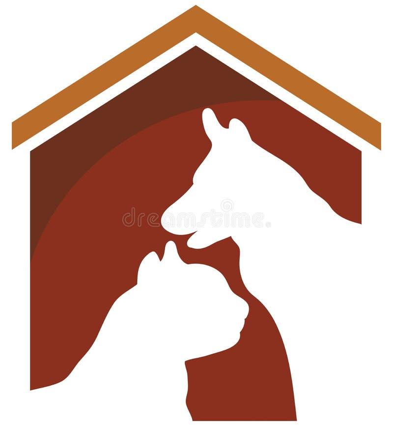 Собака и кошка иллюстрация штока