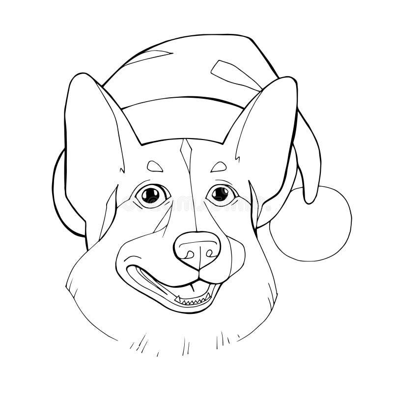 Книжка-раскраска: Собака зимы рождества Иллюстрация ...