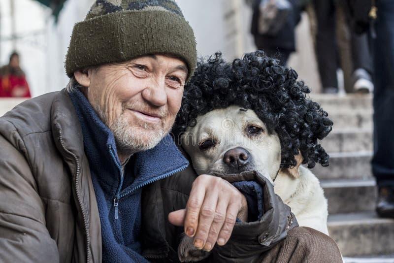 Собака масленицы в Венеции стоковое фото