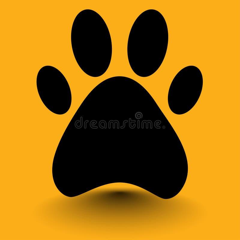 собака ноги на желтой предпосылке бесплатная иллюстрация
