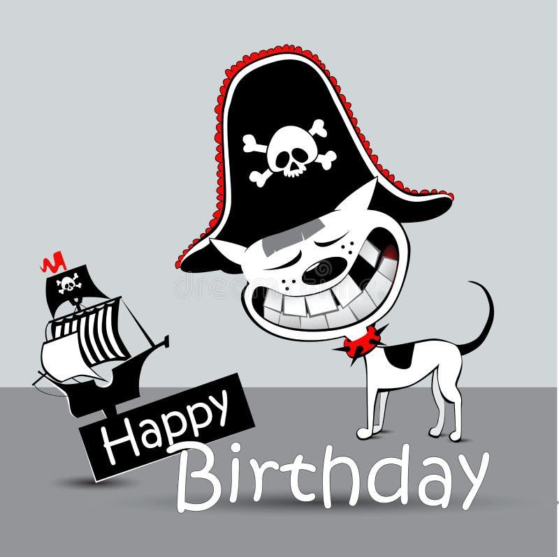 Марта, открытка с пиратом на день рождения