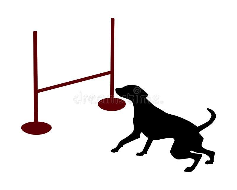 собака подвижности иллюстрация штока