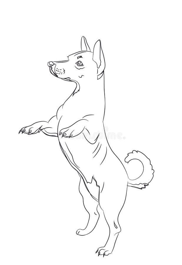 Собака спрашивая, линии, вектор бесплатная иллюстрация