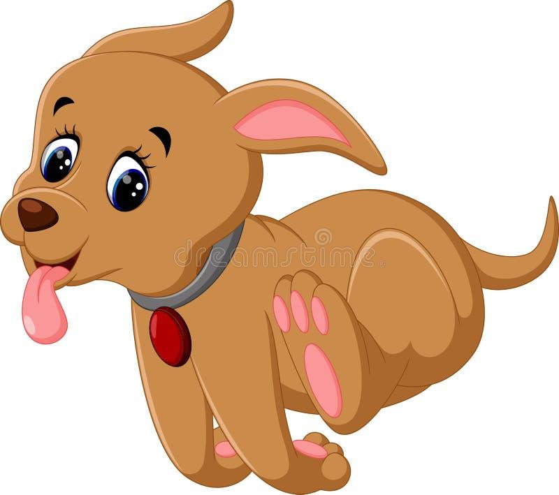 собака шаржа милая иллюстрация вектора