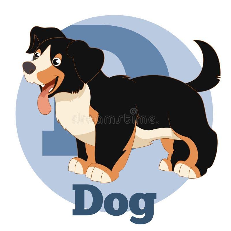 Собака шаржа ABC бесплатная иллюстрация