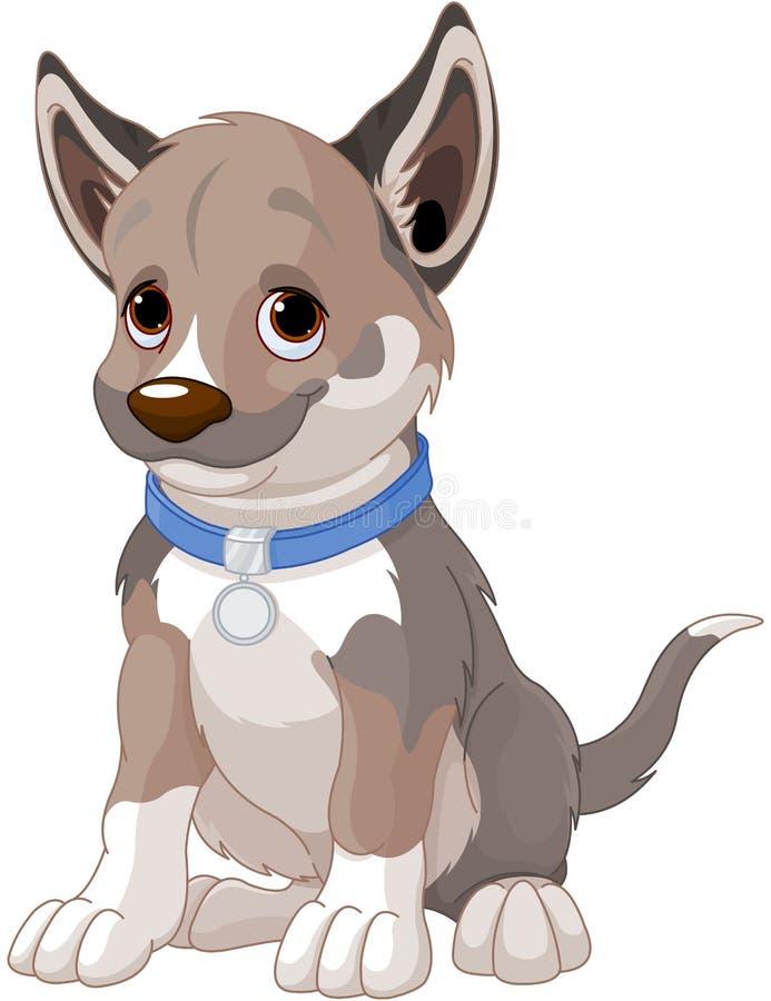 Собака щенка иллюстрация штока