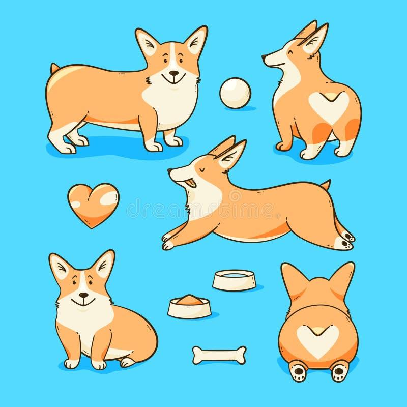 Собака corgi Welsh бесплатная иллюстрация