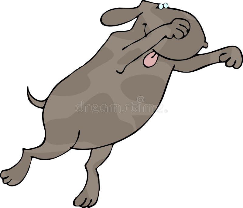 собака pouncing иллюстрация штока
