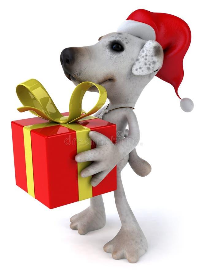 собака santa иллюстрация вектора