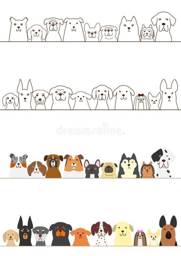 Собаки граничат комплект иллюстрация штока
