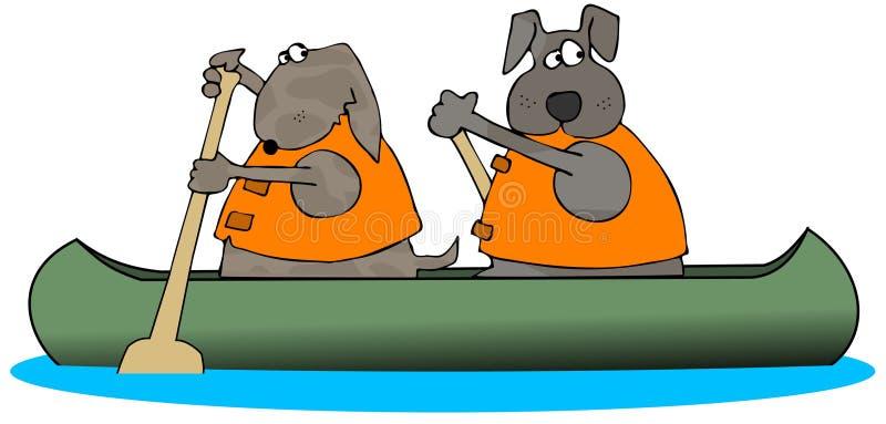 собаки каня полоща 2 иллюстрация штока