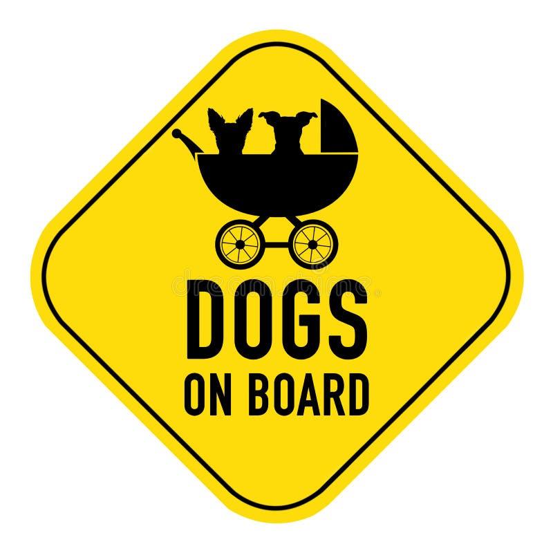 Собаки на знаке стоковые фото
