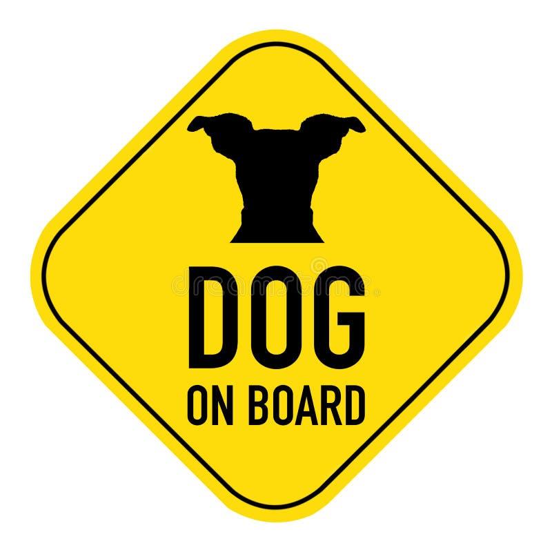 Собаки на знаке стоковые изображения