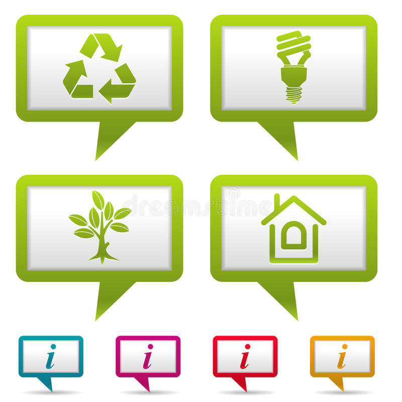 соберите икону окружающей среды иллюстрация вектора