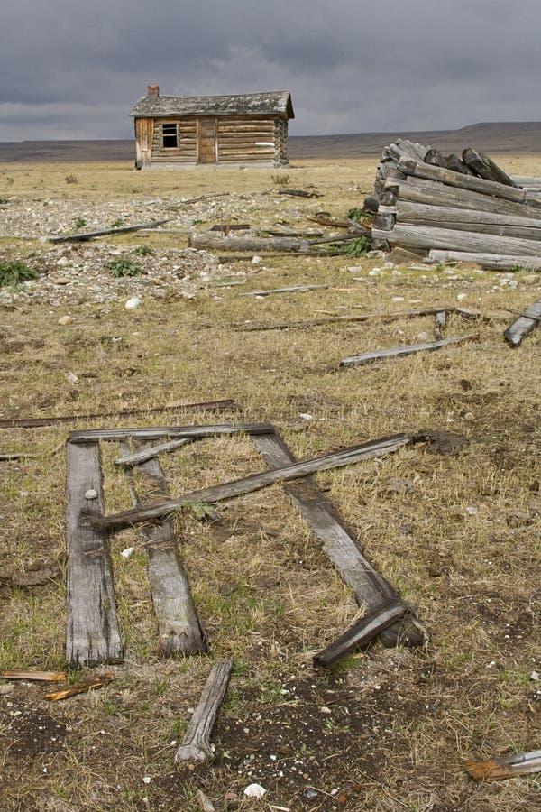 собирать ветхий шторм ранчо стоковые изображения