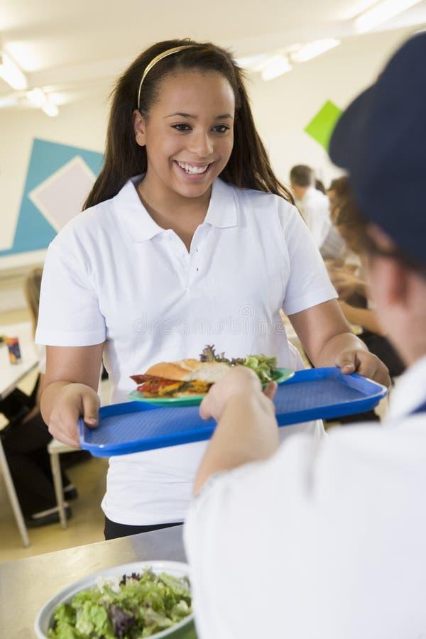 собирать студента школы обеда стоковые изображения rf