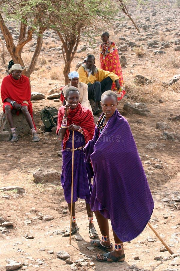 собирать masai стоковая фотография rf