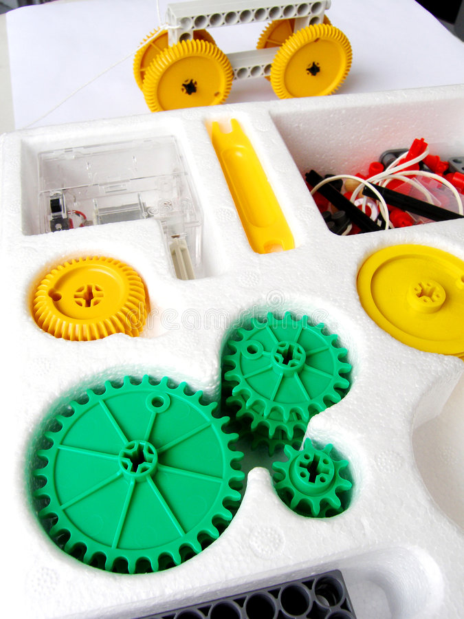 собирая игрушка физики набора стоковое фото rf