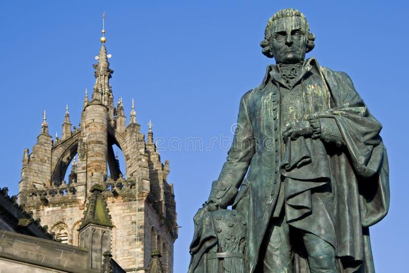 Собор Адам Smith, памятника и St Giles стоковая фотография rf