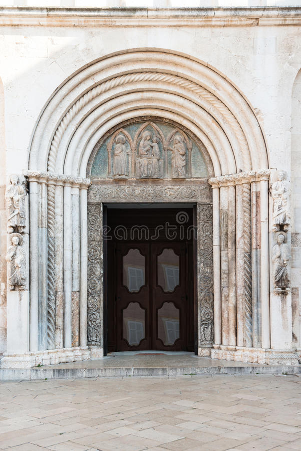 Собор Анастасии Святого, Zadar, Хорватия стоковые фото