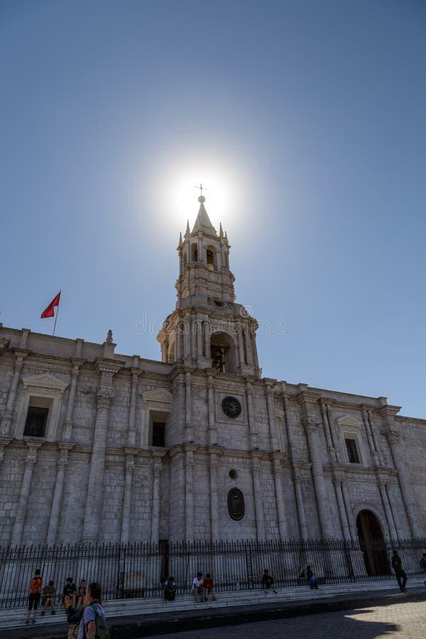 Собор базилики Arequipa стоковое изображение