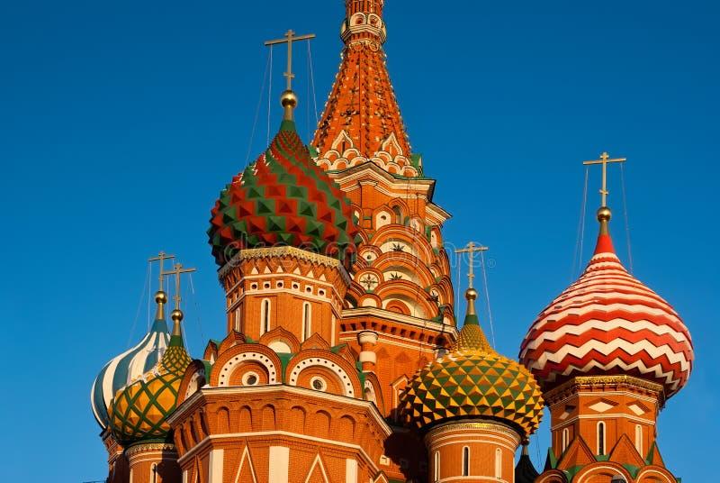 Собор базиликов St в красном квадрате, Москве стоковая фотография rf