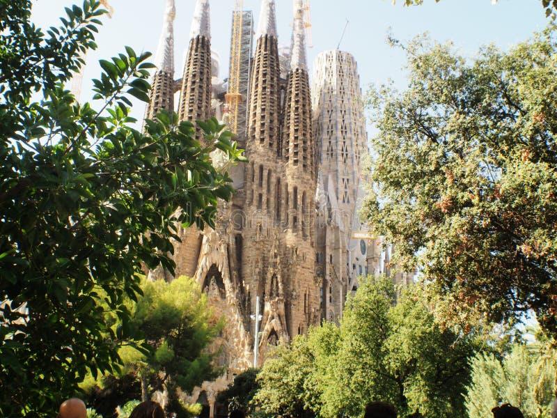 Собор Барселона Sagrada Familia Ла nio Gaudi ³ AntÃ, Catalunya стоковая фотография rf
