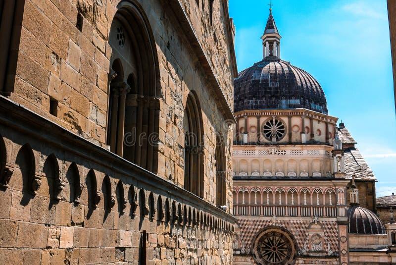 Собор Бергама Ломбардии Италии стоковая фотография rf