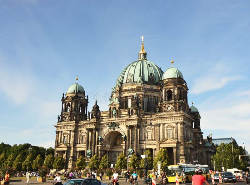 Собор Берлина также известный как евангелистский высший приход и коллигативная церковь в Берлине, Германии стоковые изображения rf