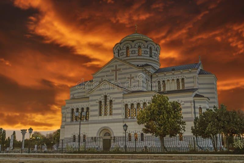 Собор Владимира в Черсонесе стоковое изображение rf